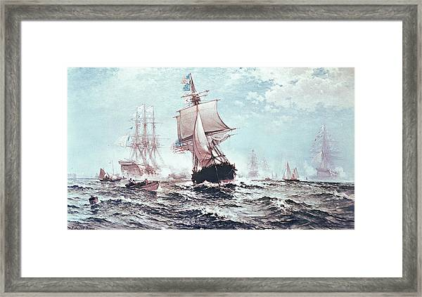 First Recognition Of The Stars And Stripes Framed Print