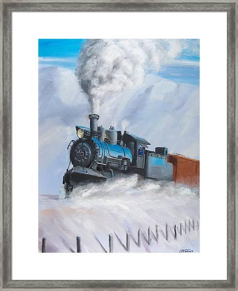 First Train Through Framed Print