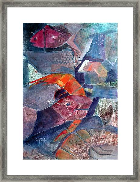 Fish Town Framed Print