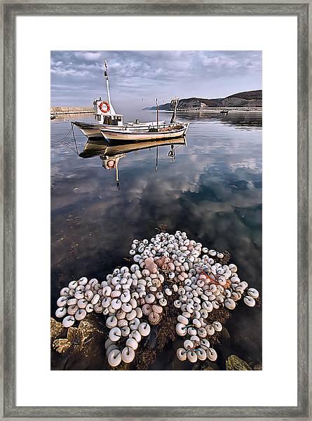 Fishing - 7 Framed Print