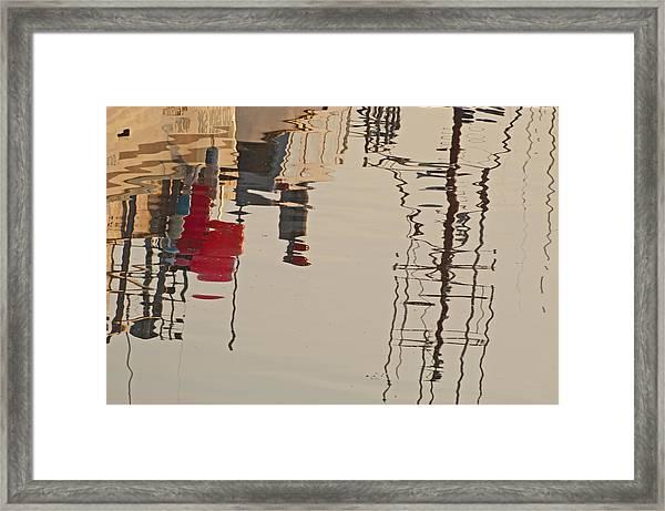 Fishing Boat Reflections Framed Print