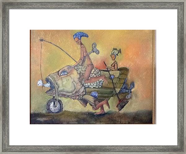 Fishing Smiles Framed Print