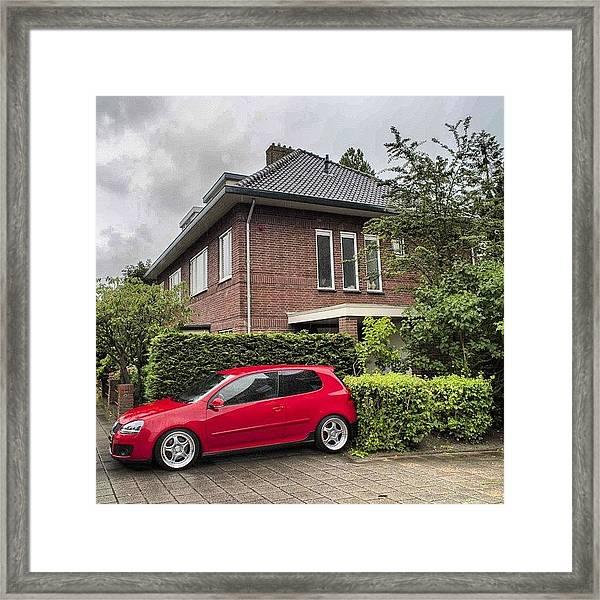 Flashy Red #vw #volkswagen Framed Print