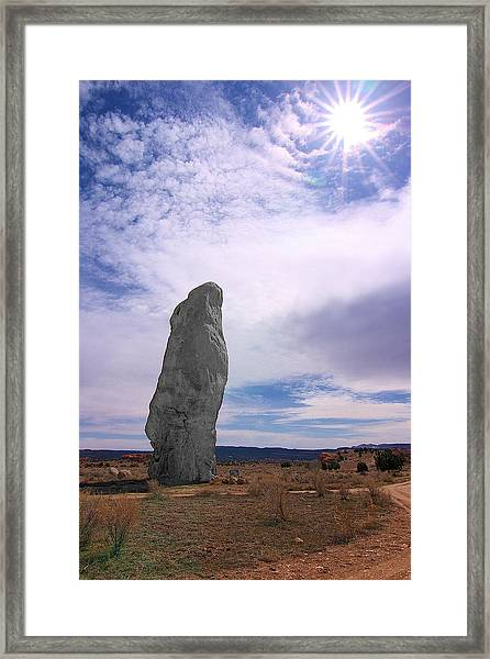 Flat Chimney Rock Framed Print