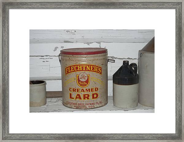 Flechtners Creamed Lard Framed Print