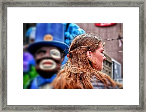 Float Woman Framed Print