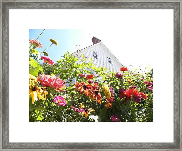 Flora House Framed Print