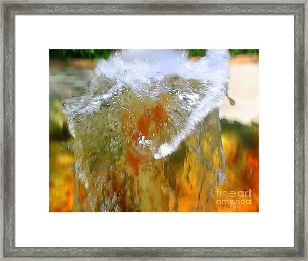 Flow Aglow Framed Print