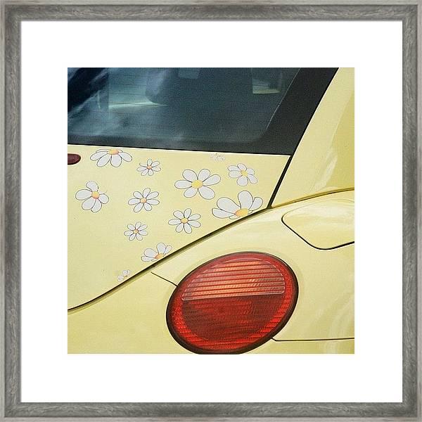 Flower Power #car #coccinelle #beetle Framed Print