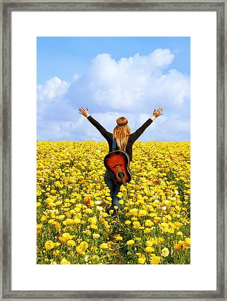 Flower Power Framed Print by Donna Pagakis