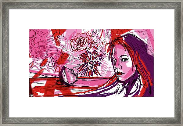 Flower Sun Lake Love Framed Print