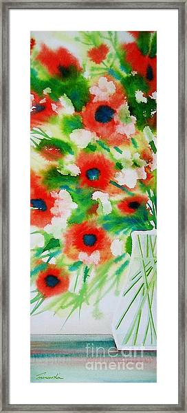 Flowers In A Glass Framed Print