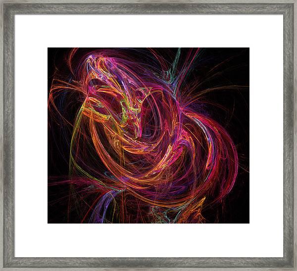 Flowing Energy Framed Print