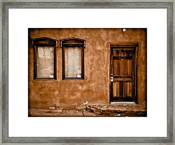 Albuquerque, New Mexico - Flyer Framed Print