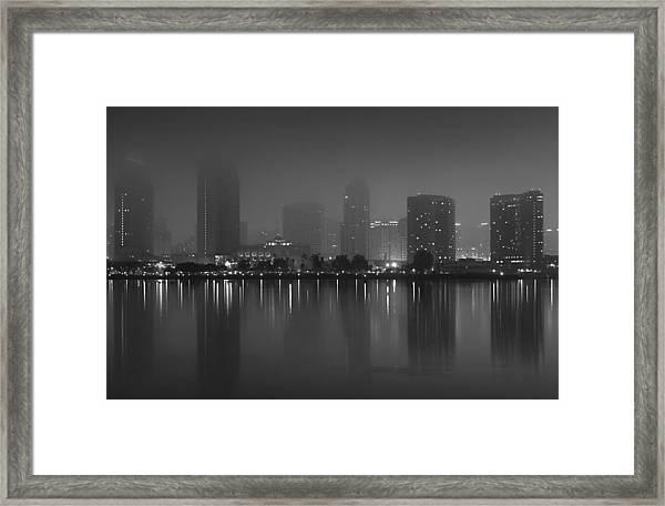 Fog On The Bay Framed Print
