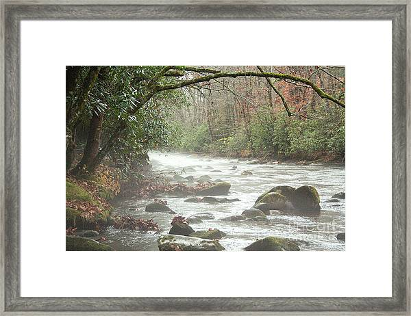 Fog On The River Framed Print