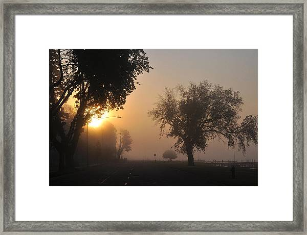 Foggy Morn Street Framed Print
