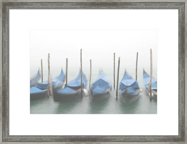 Foggy Morning Grand Canal Framed Print