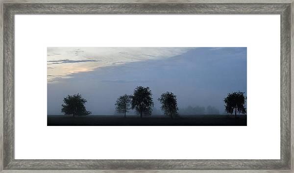 Foggy Pennsylvania Treeline Framed Print