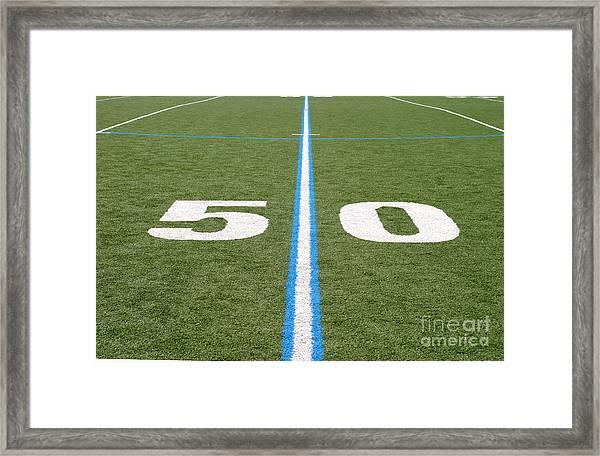Football Field Fifty Framed Print