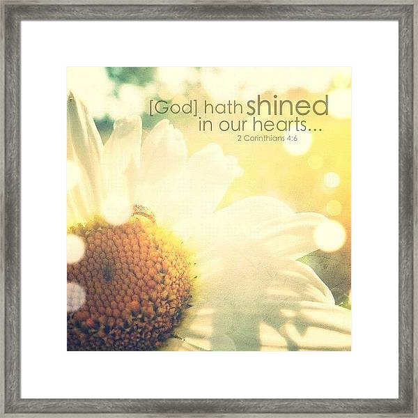 for God, Who Commanded The Light To Framed Print