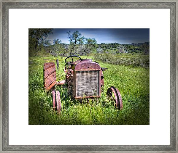 Framed Print featuring the photograph Fordson 1920 Tractor by William Havle