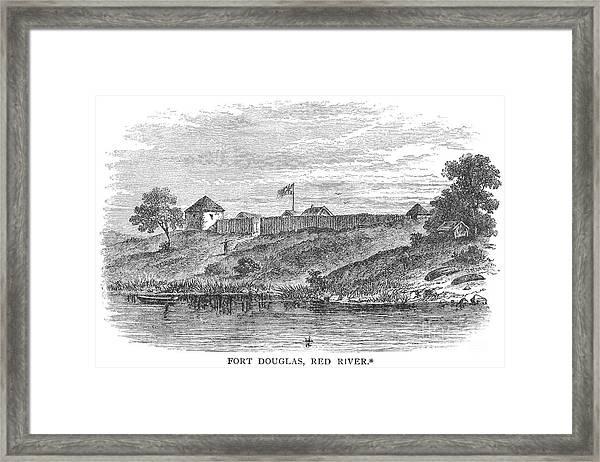 Fort Douglas, Canada Framed Print
