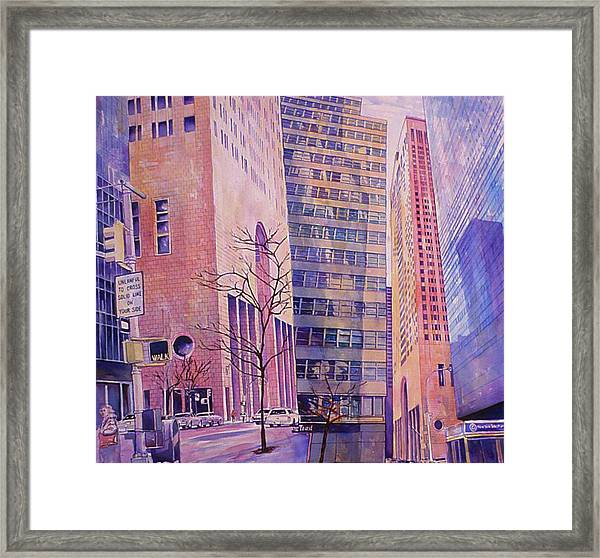 Fourth In Att Series Framed Print