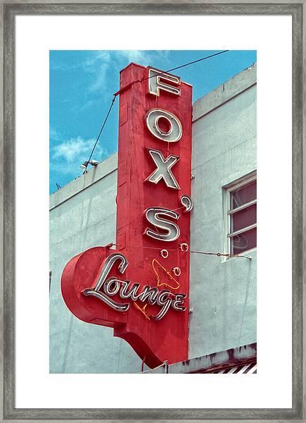 Fox's Lounge Framed Print