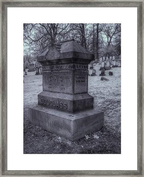 Frederick Douglass Grave One Framed Print