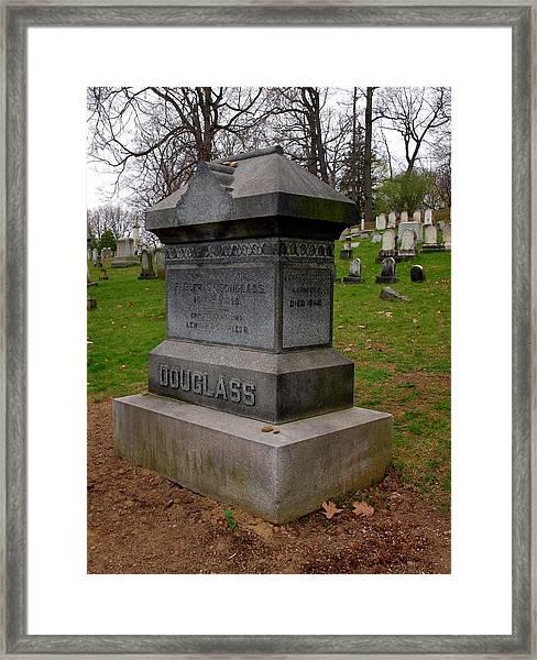 Frederick Douglass Grave Two Framed Print