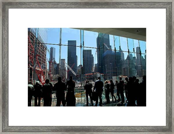 Freedom Tower Spectators Framed Print