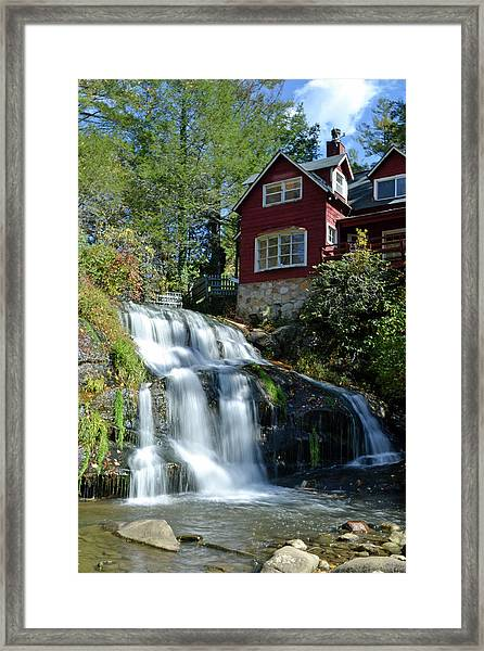 French Broad River Falls  Framed Print