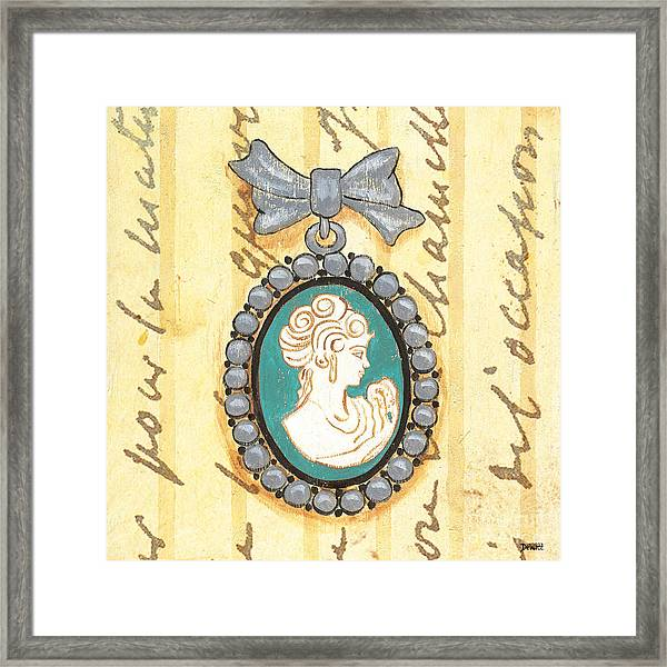 French Cameo 1 Framed Print
