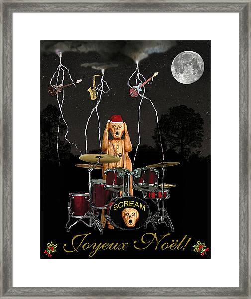 Framed Print featuring the mixed media French Christmas Rock by Eric Kempson