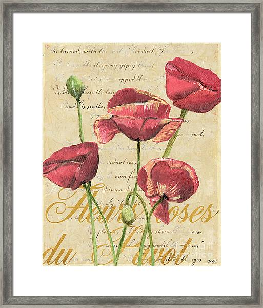 French Pink Poppies 2 Framed Print