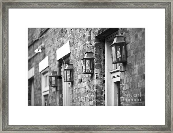 French Quarter Lamps Framed Print