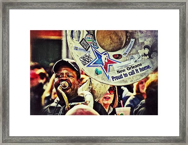 French Quarter Tuba Guy 1 Framed Print