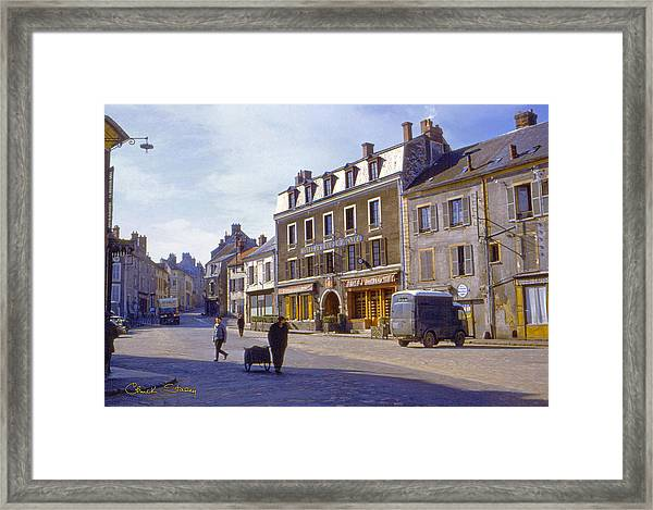 French Village Framed Print