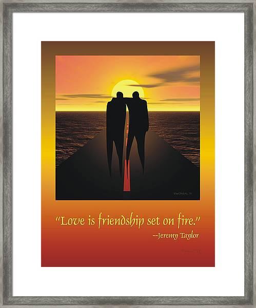 Friendship Poster Framed Print