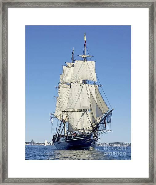 Friendship Sloop Out Of Salem Framed Print