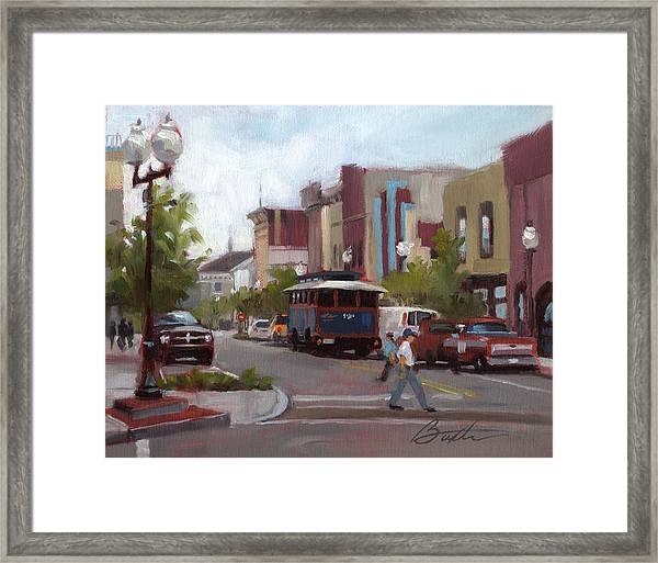 Front Street Framed Print by Todd Baxter
