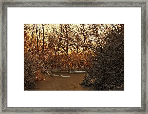 Frozen Pond Framed Print