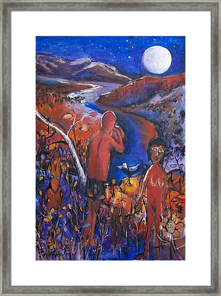 Full Moon Rising Over El Questro Framed Print