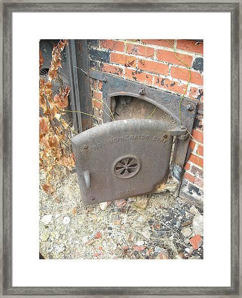 Furnace Door Framed Print