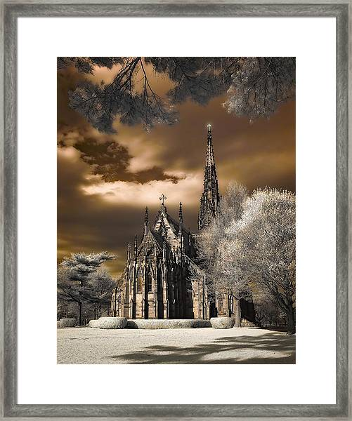 Garden City Cathedral Framed Print