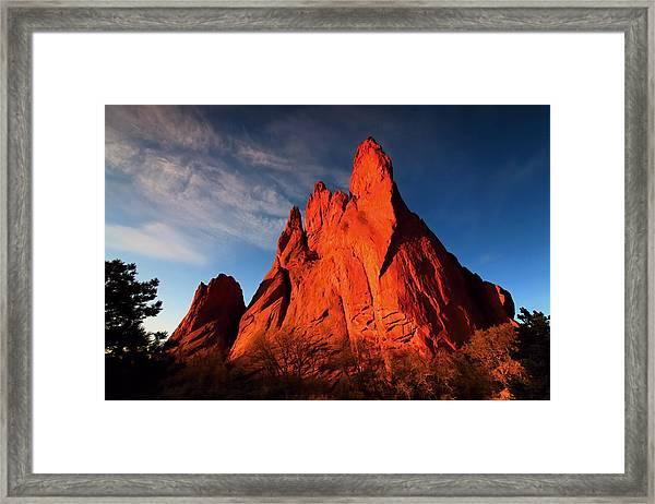 Garden Of The Gods Rocks Framed Print