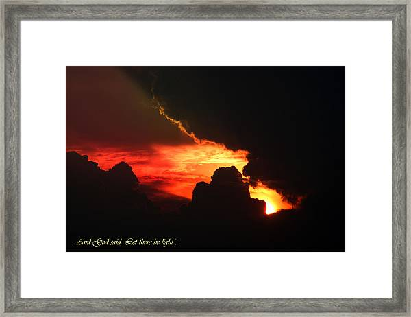 Genesis Light Framed Print