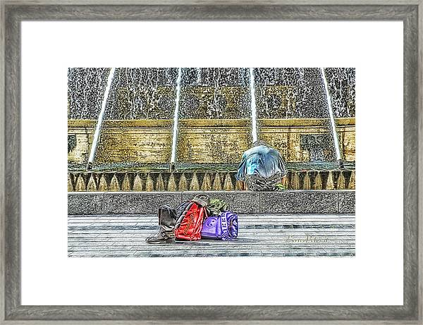 Genoa Sweet Hitchhiker In De Ferrari Square Framed Print