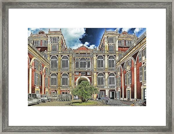 Genova Palazzo Reale - Royal Palace Of Palazzo Dei Rolli Framed Print